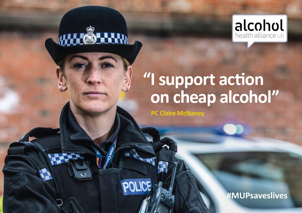 PC Claire McNaney supports action on cheap alcohol