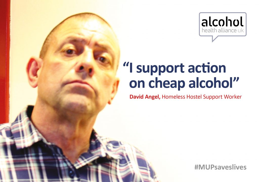 Dave Angel supports action on cheap alcohol