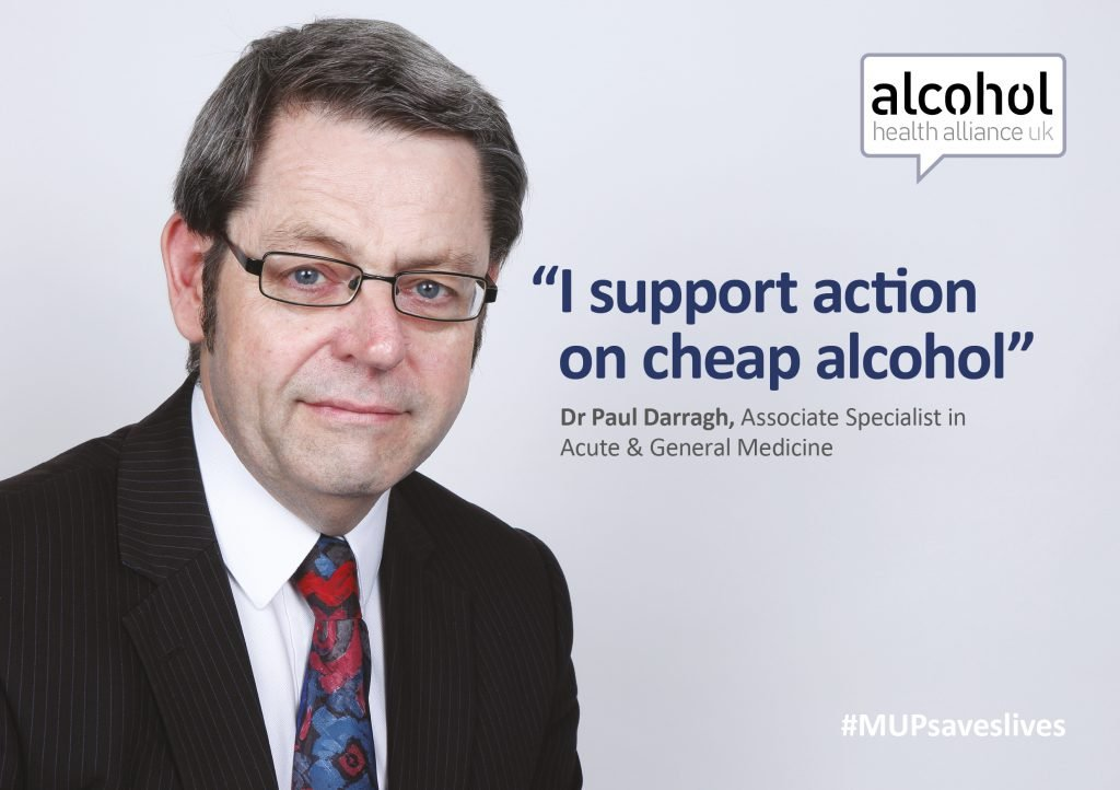 Dr Paul Darragh supports action on cheap alcohol