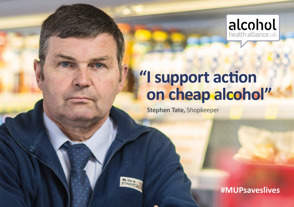 Stephen Tate supports action on cheap alcohol