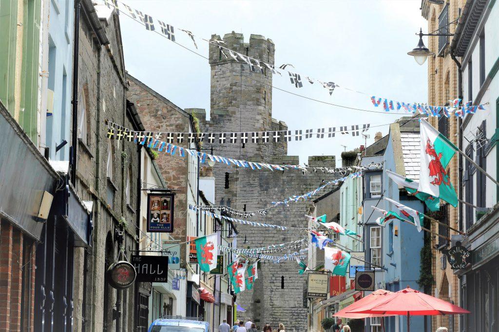 Street scene of a Welsh town