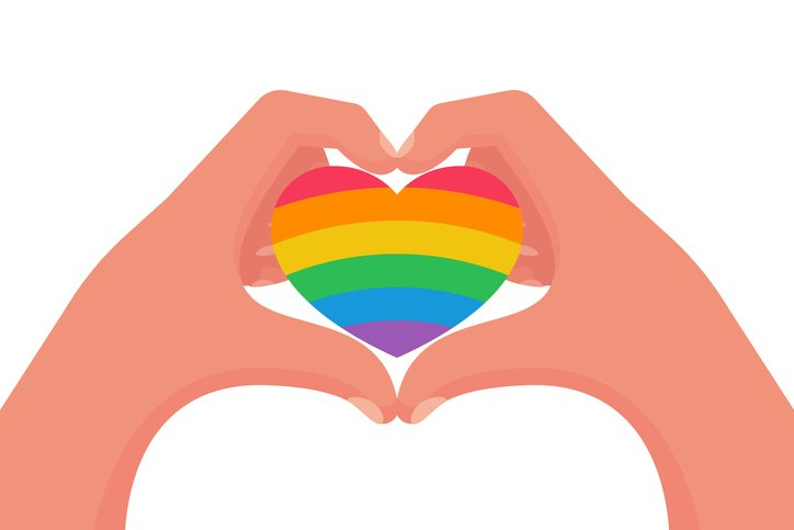 Heart with Pride Flag on it