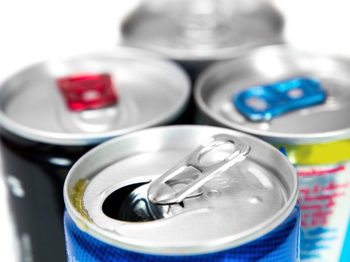 Open energy drink cans